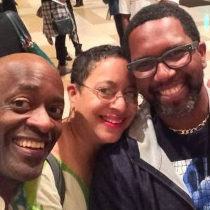 Left to Right: Actor & Cultural Architect Charles Reese, Historian Leslye Joy Allen, and Actor-Director-Drama Professor Keith Arthur Bolden (Copyright © 2016 by Leslye Joy Allen. All Rights Reserved.)